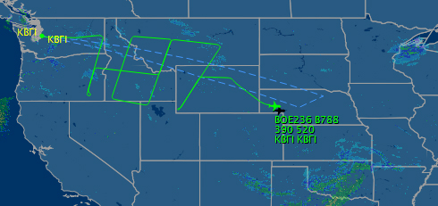 Did the special flight of this Boeing 787 get called off?
