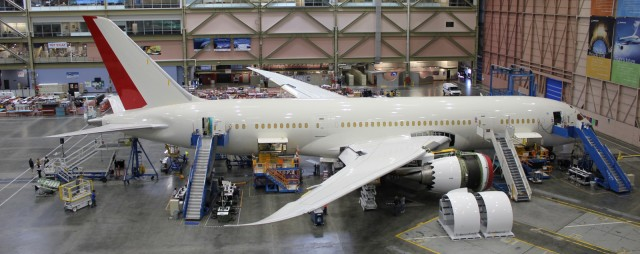 ZA236 inside the Boeing factory on 9/25/11. Photo by AirlineReporter.com