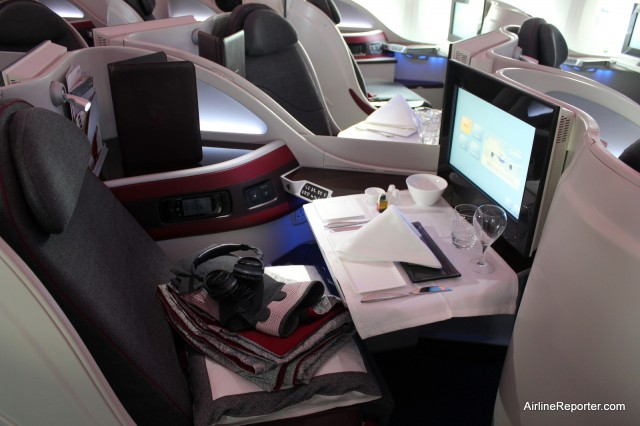 Business Class seats on the Qatar Boeing 787 is very impressive.